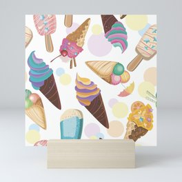 Ice Cream Everywhere Mini Art Print