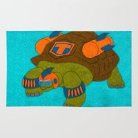 tortoise Area & Throw Rugs featuring Tortoise by subpatch