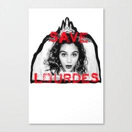 SAVE LOURDES Canvas Print