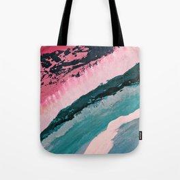 ECHO BEACH BABY | Acrylic abstract art by Natalie Burnett Art Tote Bag