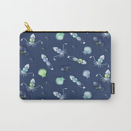 Robot Squid Pattern with Shells Carry-All Pouch