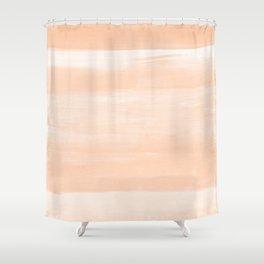 Soft Orange Watercolor Abstract Minimalism #1 #minimal #painting #decor #art #society6 Shower Curtain