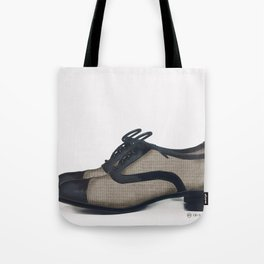 Leather bluchers Tote Bag