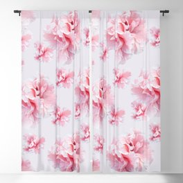 Pink Azalea Flower Dream #1 #floral #pattern #decor #art #society6 Blackout Curtain