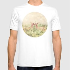 Let's Meet in the Middle White MEDIUM Mens Fitted Tee