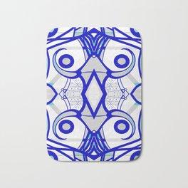 Blue morning - abstract decorative pattern Bath Mat