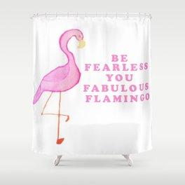 Fabulous Flamingo Shower Curtain