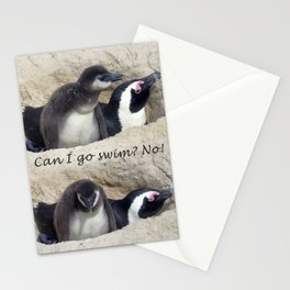 Baby penguin dejected Stationery Cards