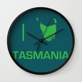 I heart Tasmania Wall Clock