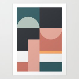 Abstract Geometric 07 Art Print