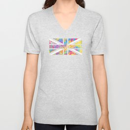 Pansexual Pride UK Flag Streetwear Style Unisex V-Neck