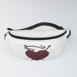 I Love Knitting   Wool Needle Heart Sewing Craft Fanny Pack