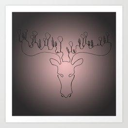 Rudolf on a summer's day Art Print