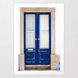 Door Ericeira Portugal blue Art Print