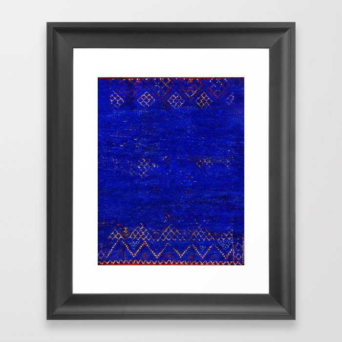 -A5- Royal Calm Blue Bohemian Moroccan Artwork. Gerahmter Kunstdruck