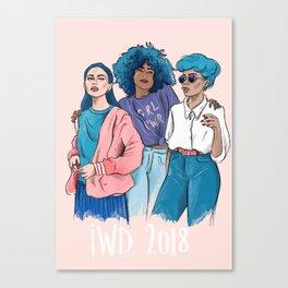 International Women's Day 2018 illustration Canvas Print