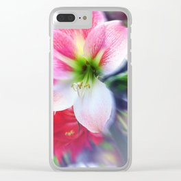 Atmospheric Amaryllis Clear iPhone Case