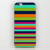 stripe iPhone & iPod Skins featuring Stripe by Aimee St Hill