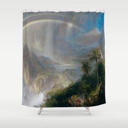 Rainy Season in the Tropics - Frederic Edwin Church Shower Curtain