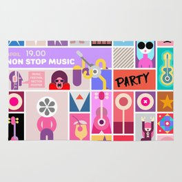 Rock Concert Poster Rug