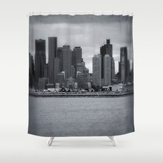 City and Airfield Shower Curtain
