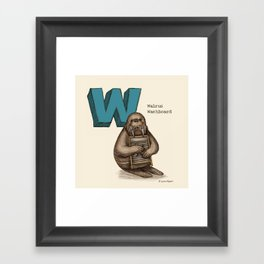 Animals & Instruments ABCs – W Framed Art Print