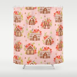Gingerbread Houses Shower Curtain