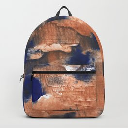 Peach Blue colorful watercolor design Backpack