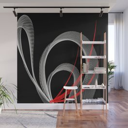 Bended Lines Energy Flow Wall Mural