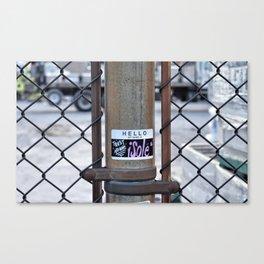 Trust No One Canvas Print