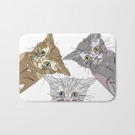 Triple Kitties - Three's Company Bath Mat