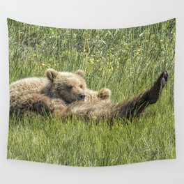 My Foot's So Pretty, Oh So Pretty - Bear Cubs, No. 2 Wall Tapestry
