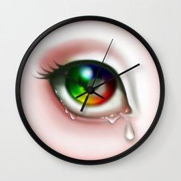 Rainbow Eye - Cry for Me Wall Clock