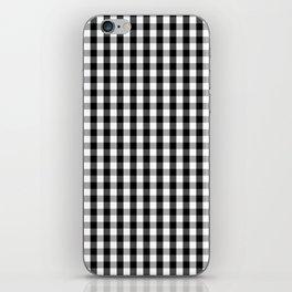 Classic Black & White Gingham Check Pattern iPhone Skin