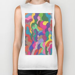 Chaos in Color Biker Tank