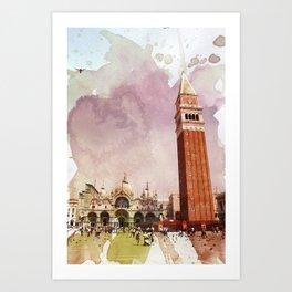 the Piazza Art Print