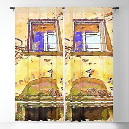 Bracciano:old writing of the antique shop wine and kitchen Blackout Curtain