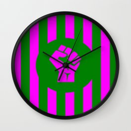 woman feminist logo Wall Clock
