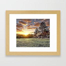 Sunshine Farm Airbrush Artwork Framed Art Print