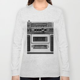 cassette recorder / audio player - 80s radio Long Sleeve T-shirt