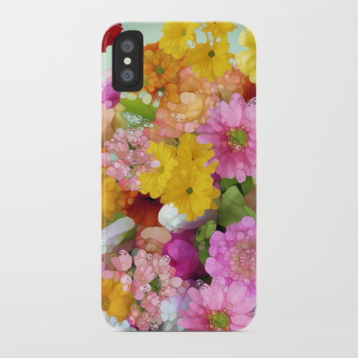May the Flowers Be With You iPhone Case