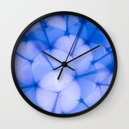 Bright Blue Abstract Ball Repeat Pattern Wall Clock