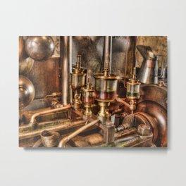 Steam engine oilers Metal Print