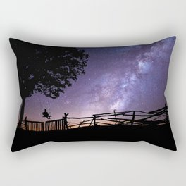 Childhood Dreams of the Milky Way lonely night color photography / photographs Rectangular Pillow