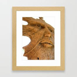 Face in the Wind  Framed Art Print