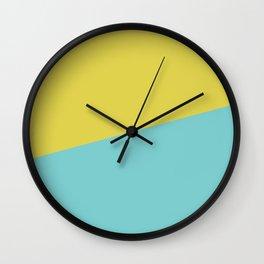 2COLOR   CITRINE + TIFFANY BLUE  Wall Clock