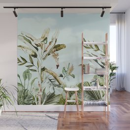 Landscape of banana trees in the jungle Wall Mural