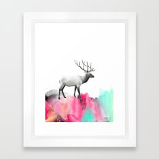 Wild No. 2 // Elk Framed Art Print