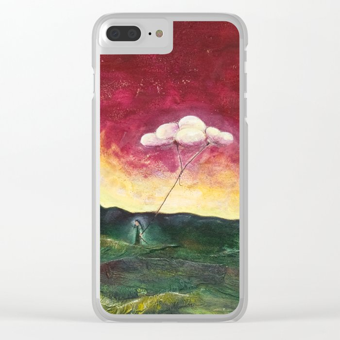 Watering Time Clear iPhone Case
