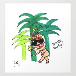 Dancing Girl - Jungle Party Art Print